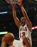 Atlanta Hawks v Chicago Bulls - Game One, Chicago, IL - MAY 02: Joakim Noah Photographic Print by Jonathan Daniel