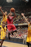Chicago Bulls v Indiana Pacers - Game Four, Indianapolis, IN - APRIL 23: Derrick Rose Photographic Print by Ron Hoskins