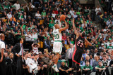 Miami Heat v Boston Celtics - Game Four, Boston, MA - MAY 9: Ray Allen and James Jones Fotografisk tryk af Brian Babineau