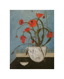 Poppies on Pastry Cart Giclee Print by Karen Tusinski