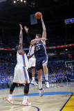Memphis Grizzlies v Oklahoma City Thunder - Game Two, Oklahoma City, OK - MAY 3: Marc Gasol and Ken Photographic Print by Layne Murdoch