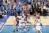 Los Angeles Lakers v Dallas Mavericks - Game Four, Dallas, TX - MAY 8: Kobe Bryant, Tyson Chandler, Photographic Print by Glenn James