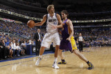 Los Angeles Lakers v Dallas Mavericks - Game Four, Dallas, TX - MAY 8: Dirk Nowitzki and Pau Gasol Photographic Print by Danny Bollinger