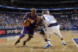 Los Angeles Lakers v Dallas Mavericks - Game Four, Dallas, TX - MAY 8: Kobe Bryant, DeShawn Stevens Photographic Print by Danny Bollinger