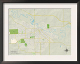 Political Map of Freeport, IL Print