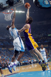 Los Angeles Lakers v New Orleans Hornets - Game Six, New Orleans, LA - APRIL 28: Pau Gasol and Emek Photographic Print by Layne Murdoch