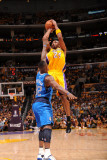 Dallas Mavericks v Los Angeles Lakers - Game One, Los Angeles, CA - MAY 2: Kobe Bryant and DeShawn  Photographic Print by Andrew Bernstein