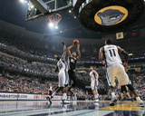 San Antonio Spurs v Memphis Grizzlies - Game Four, Memphis, TN - APRIL 25: Tim Duncan and Zach Rand Photographic Print by Joe Murphy