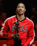Atlanta Hawks v Chicago Bulls - Game Two, Chicago, IL - MAY 04: Derrick Rose Photographic Print by Jonathan Daniel