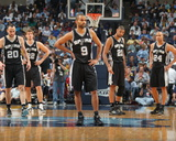 San Antonio Spurs v Memphis Grizzlies - Game Four, Memphis, TN - APRIL 25: Tony Parker Fotografisk tryk af Joe Murphy