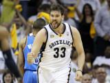 Oklahoma City Thunder v Memphis Grizzlies - Game Four, Memphis, TN - MAY 09: Marc Gasol Photographic Print by Andy Lyons