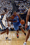 Oklahoma City Thunder v Memphis Grizzlies  - Game Four, Memphis, TN - MAY 9: Kevin Durant and Zach  Photographic Print by Layne Murdoch