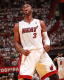 Philadelphia 76ers v Miami Heat - Game Five,  MIAMI - APRIL 27: Dwyane Wade Photographic Print by Victor Baldizon