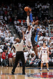 Orlando Magic v Atlanta Hawks - Game Six, Atlanta, GA - APRIL 28: Josh Smith and Dwight Howard Photographic Print by Scott Cunningham