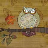 Awesome Owls III Schilderijen van Paul Brent