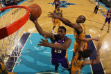 Los Angeles Lakers v New Orleans Hornets - Game Three, New Orleans, LA - APRIL 22: Ron Artest and M Photographic Print by Chris Graythen