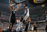 San Antonio Spurs v Memphis Grizzlies - Game Four, Memphis, TN - APRIL 25: O.J. Mayo and George Hil Photographic Print by Joe Murphy
