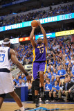 Los Angeles Lakers v Dallas Mavericks - Game Four, Dallas, TX - MAY 8: Andrew Bynum and Brendan Hay Photographic Print by Noah Graham