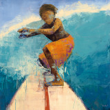 Surfer Art by Becky Kinkead