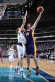 Los Angeles Lakers v Dallas Mavericks - Game Four, Dallas, TX - MAY 8: Pau Gasol and Dirk Nowitzki Photographic Print by Danny Bollinger