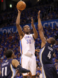 Memphis Grizzlies v Oklahoma City Thunder - Game Two, Oklahoma City, OK - MAY 03: Kevin Durant, Mik Photographic Print by Ronald Martinez