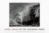 Half Dome, Blowing Snow, Yosemite National Park, c.1955 Plakat av Ansel Adams