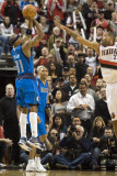 Dallas Mavericks v Portland Trail Blazers - Game Six, Portland, OR - APRIL 28: Jason Kidd and Marcu Photographic Print by Steve Dykes