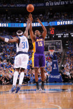 Los Angeles Lakers v Dallas Mavericks - Game Four, Dallas, TX - MAY 8: Ron Artest and Jason Terry Photographic Print by Andrew Bernstein