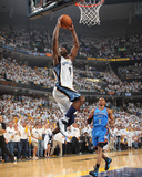 Oklahoma City Thunder v Memphis Grizzlies - Game Four, Memphis, TN - MAY 9: Tony Allen and Russell  Photographic Print by Joe Murphy