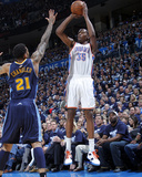 Denver Nuggets v Oklahoma City Thunder - Game Five, Oklahoma City, OK - APRIL 27: Kevin Durant and  Photographic Print by Layne Murdoch