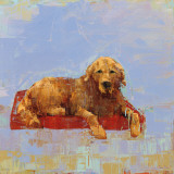 Golden Dog Prints by Rebecca Kinkead