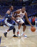 Memphis Grizzlies v Oklahoma City Thunder - Game Two, Oklahoma City, OK - MAY 3: Kevin Durant and M Photographic Print by Layne Murdoch