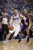 Los Angeles Lakers v Dallas Mavericks - Game Four, Dallas, TX - MAY 8: Jason Kidd and Derek Fisher Photographic Print by Glenn James