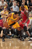 Chicago Bulls v Indiana Pacers - Game Four, Indianapolis, IN - APRIL 23: Danny Granger and Luol Den Photographic Print by Ron Hoskins