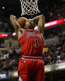 Chicago Bulls v Indiana Pacers - Game Four, Indianapolis, IN - APRIL 23: Derrick Rose Photographic Print by Jonathan Daniel