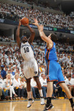 Oklahoma City Thunder v Memphis Grizzlies - Game Four, Memphis, TN - MAY 9: Zach Randolph and Nick  Photographic Print by Joe Murphy