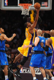 Dallas Mavericks v Los Angeles Lakers - Game Two, Los Angeles, CA - MAY 4: Andrew Bynum Photographic Print by Noah Graham