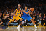 Dallas Mavericks v Los Angeles Lakers - Game One, Los Angeles, CA - MAY 2: Shawn Marion and Kobe Br Photographic Print by Noah Graham
