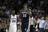 Memphis Grizzlies v San Antionio Spurs - Game Five, San Antonio, TX - APRIL 27: Zach Randolph Photographic Print by Jed Jacobsohn