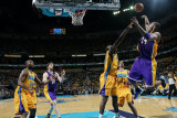 Los Angeles Lakers v New Orleans Hornets - Game Three, New Orleans, LA - APRIL 22: Kobe Bryant and  Photographic Print by Layne Murdoch