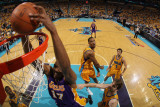 Los Angeles Lakers v New Orleans Hornets - Game Three, New Orleans, LA - APRIL 22: Andrew Bynum Photographic Print by Chris Graythen
