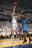 Oklahoma City Thunder v Memphis Grizzlies - Game Four, Memphis, TN - MAY 9: Marc Gasol and Serge Ib Photographic Print by Joe Murphy