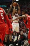Atlanta Hawks v Chicago Bulls - Game Two, Chicago, IL - MAY 04: Derrick Rose Photographic Print by Jonathan Daniel