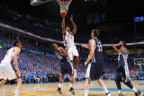 Memphis Grizzlies v Oklahoma City Thunder - Game Two, Oklahoma City, OK - MAY 3: Serge Ibaka, Darre Photographic Print by Joe Murphy