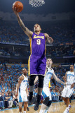 Los Angeles Lakers v New Orleans Hornets - Game Six, New Orleans, LA - APRIL 28: Matt Barnes and Ja Photographic Print by Layne Murdoch