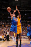 Dallas Mavericks v Los Angeles Lakers - Game Two, Los Angeles, CA - MAY 4: Jose Barea and Andrew By Lmina fotogrfica por Andrew Bernstein