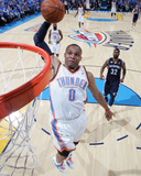 Memphis Grizzlies v Oklahoma City Thunder - Game Two, Oklahoma City, OK - MAY 3: Russell Westbrook  Photographic Print by Layne Murdoch