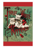 Three White Kittens Prints