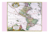 The Americas - the Western Hemisphere Prints by Heirs Homanns