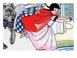 Little Red Riding Hood Chased By the Wolf Art by Julia Letheld Hahn